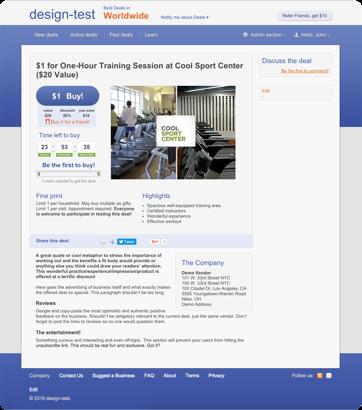 Online Store for Sport Center