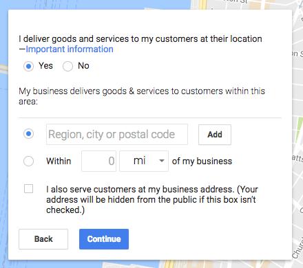 Service area information